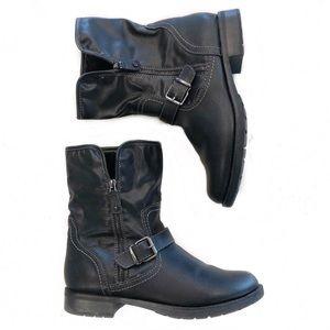 [Sporto] Black Water Resistant Corbit Cuff Boots